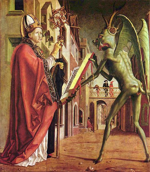 Michael Pacher's Wolfgang und der Teufel